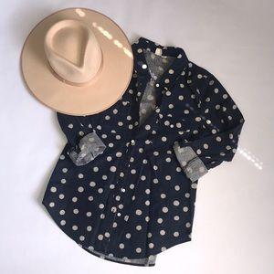 Roxy Polka Dot Chambray Shirt!